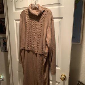 Long Sleeved Cowl Neck Sweater Dress